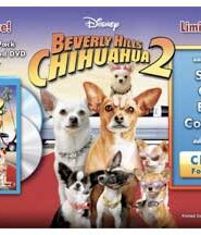 Disney Movie Rewards currently has a $10 off coupon for the Beverly Hills Chihuahua 2 Combo Pack!